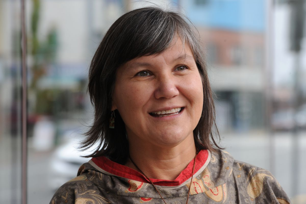 Lt. Gov. Valerie Davidson at the 7th annual AFN-NCAI Tribal Conference at the Egan Center on Wednesday, Oct. 17, 2018. (Bill Roth / ADN archive)