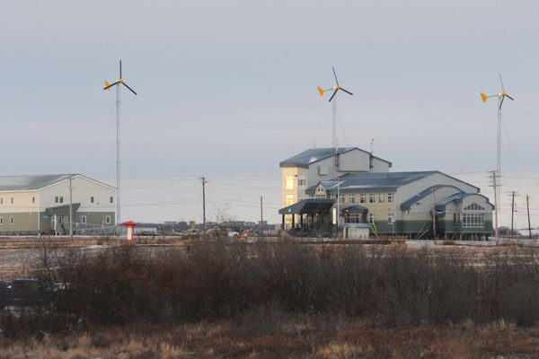 OPINION: As legislators look for budget savings, they should consider the ways using -- not cutting -- the Power Cost Equalization program to help alleviate costs to the state as well as rural communities and families. Pictured: Wind turbines generate power at the the Yuut Elitnaurviat Learning Center in Bethel on Jan. 8, 2015.