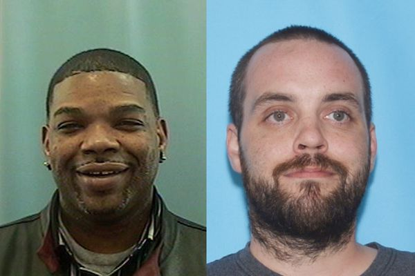 Detectives are looking for two persons of interest Carlton Tarkington, left, and Aarron Settje and in the homicide of Kortez Brown. (Anchorage Police photos)