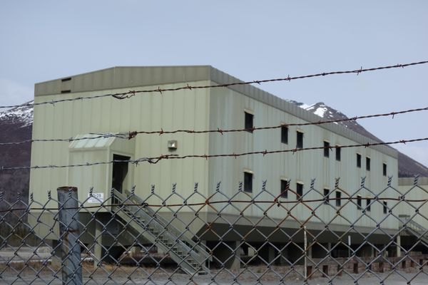 The living quarters of Trans-Alaska Pipeline Pump Station 12, now unoccupied. (Ned Rozell)