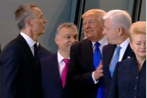 Trump shove video