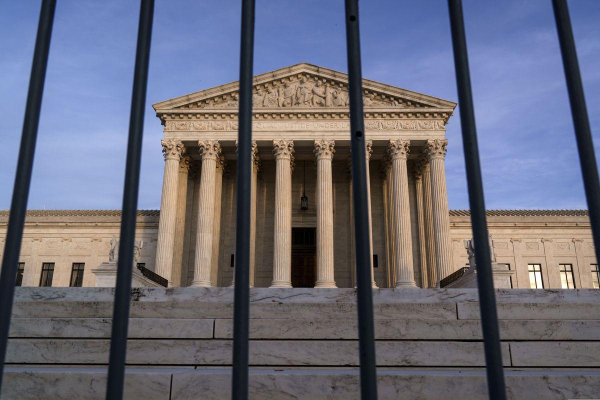 In this Nov. 5, 2020, file photo, the Supreme Court in Washington. (AP Photo/J. Scott Applewhite)