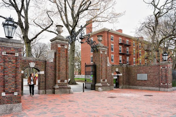 Entrance gate in Harvard Yard in Harvard University of Cambridge, Mass. (iStock / Getty Images)