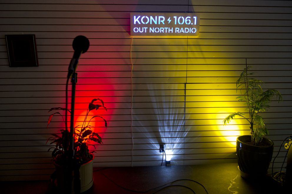 Out North Radio broadcasts occasional live performances from its downtown studio. (Marc Lester / ADN)