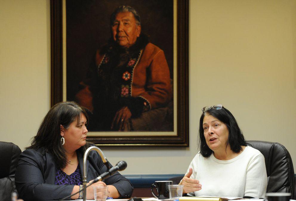 Tara Sweeney of Arctic Slope Regional Corp. and Alaska Federation of NativesPresident Julie Kitka, November 2013. (Bill Roth / Alaska Dispatch News)