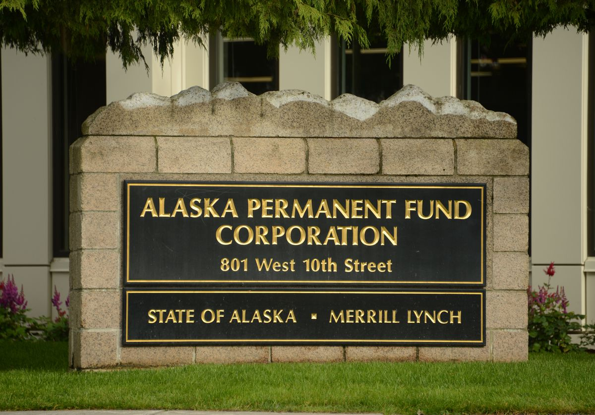The offices of the Alaska Permanent Fund Corporation are seen Monday, Aug. 17, 2020 in Juneau, Alaska. (James Brooks / ADN)