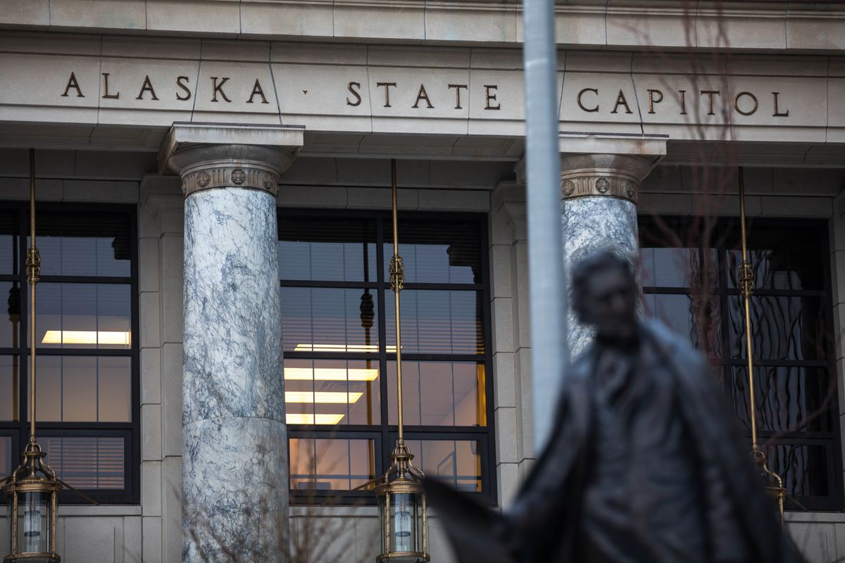 The Alaska State Capitol, photographed on Monday. (Loren Holmes / ADN)