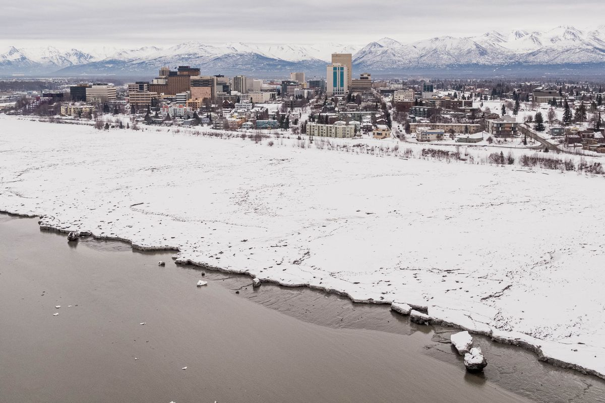 Downtown Anchorage on Wednesday, March 25, 2020. (Loren Holmes / ADN)