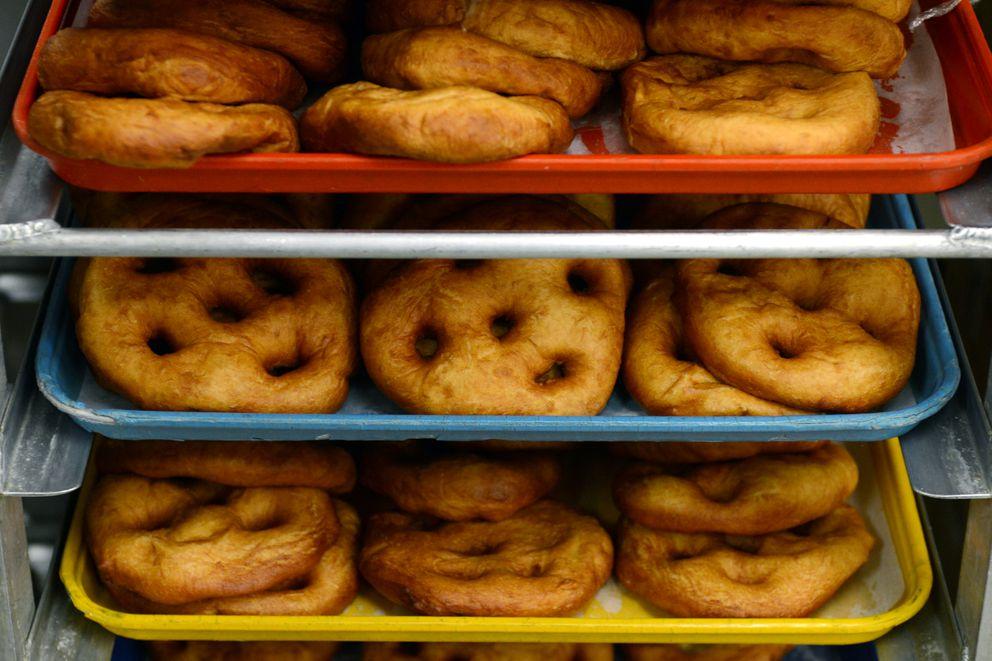 Three batches of fry bread a day are prepared at Alaska Native Medical Center. (Erik Hill / Alaska Dispatch News)