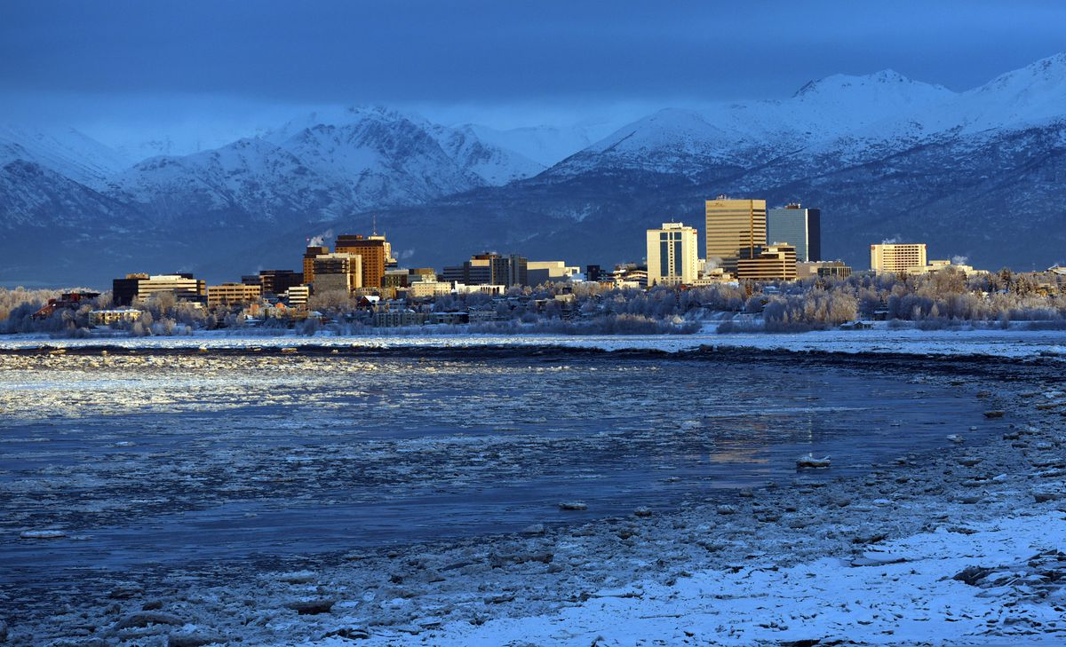 The city of Anchorage on Jan. 14, 2020. (Matt Tunseth / ADN)