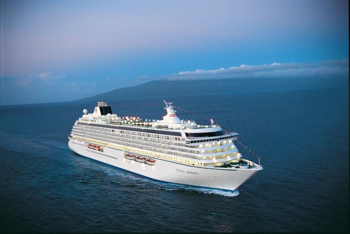 The 1,077 passenger capacity Crystal Serenity is planning a 32-day voyage through the Northwest Passage in the summer of 2016. (Courtesy Crystal Cruises)