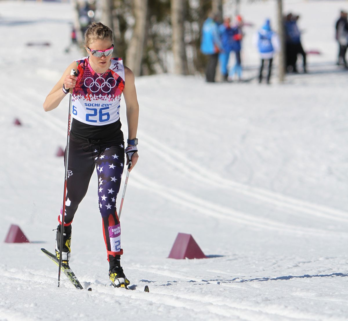 Sadie Bjornsen's road to the 2014 Winter Olympics in Russia included a pivotal stop at UAA. (Nathaniel Herz / Anchorage Daily News / FasterSkier.com)