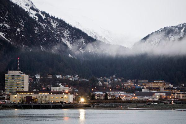 Downtown Juneau, photographed from near the Juneau-Douglas Bridge on January 18, 2017. (Marc Lester / Alaska Dispatch News)