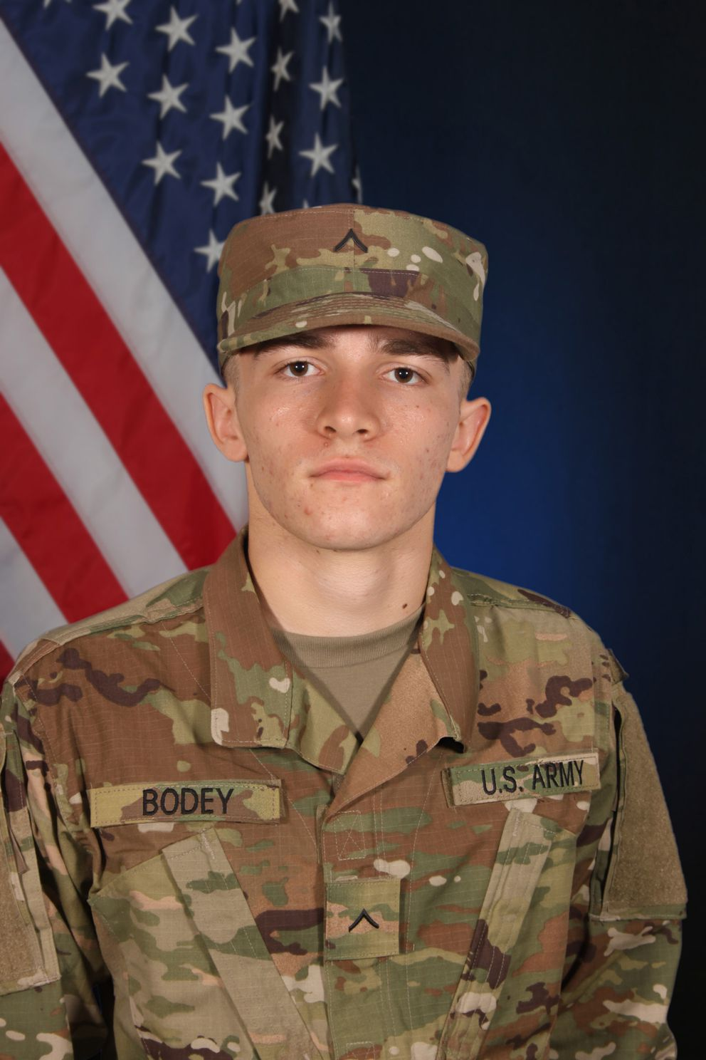 Spc. Charles Michael Bodey was found dead in his Fort Wainwright barracks room by fellow soldiers Monday, June 17, 2019. (US Army photo)