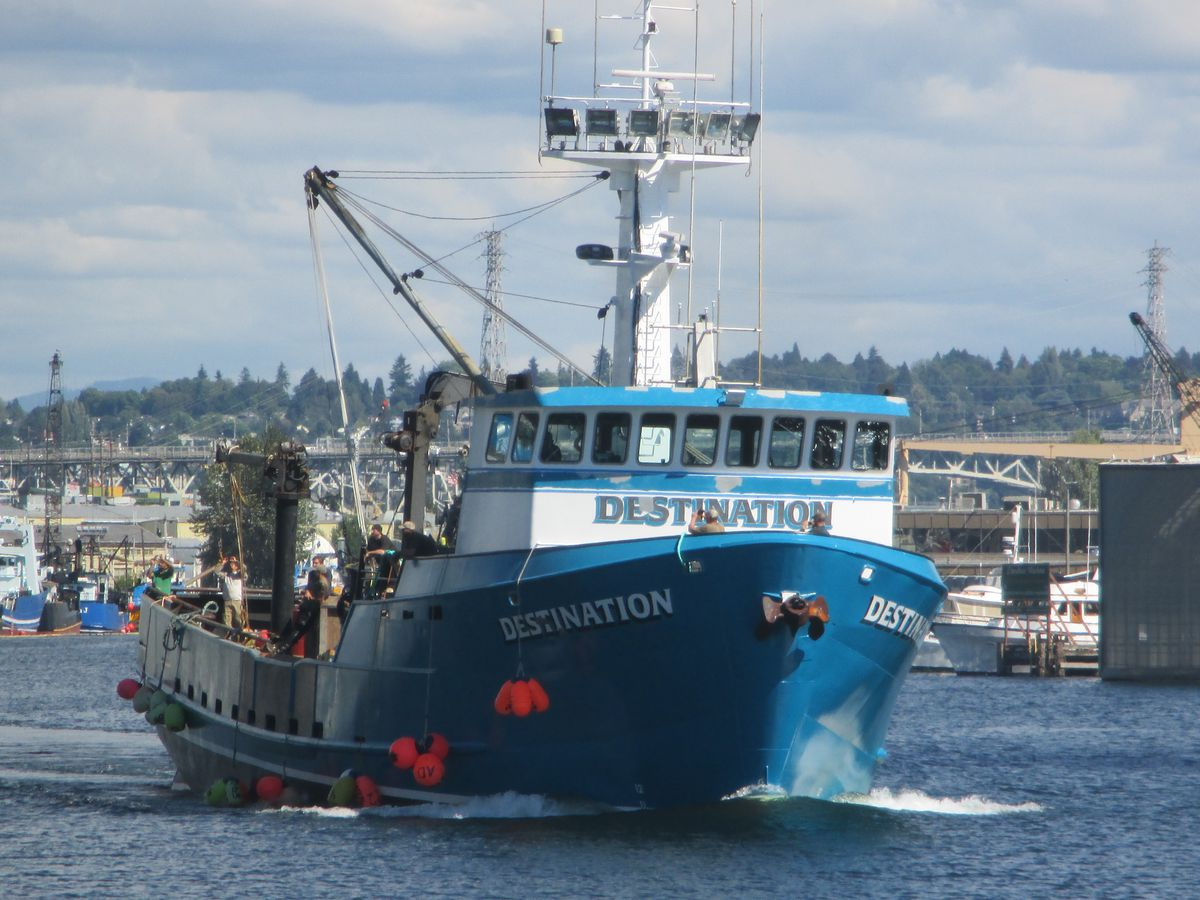 The search continued on Monday for the 92-foot fishing vessel Destination, which went missing with six people aboard in the Bering Sea. (Photo by Salty Dog Maritime Marketing)