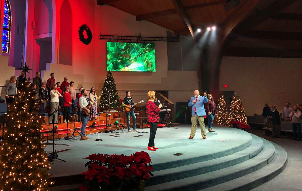 Services at Flat Creek Baptist Church in Fayetteville, Georgia, Dec. 13, 2020. (Jaweed Kaleem/Los Angeles Times/TNS)