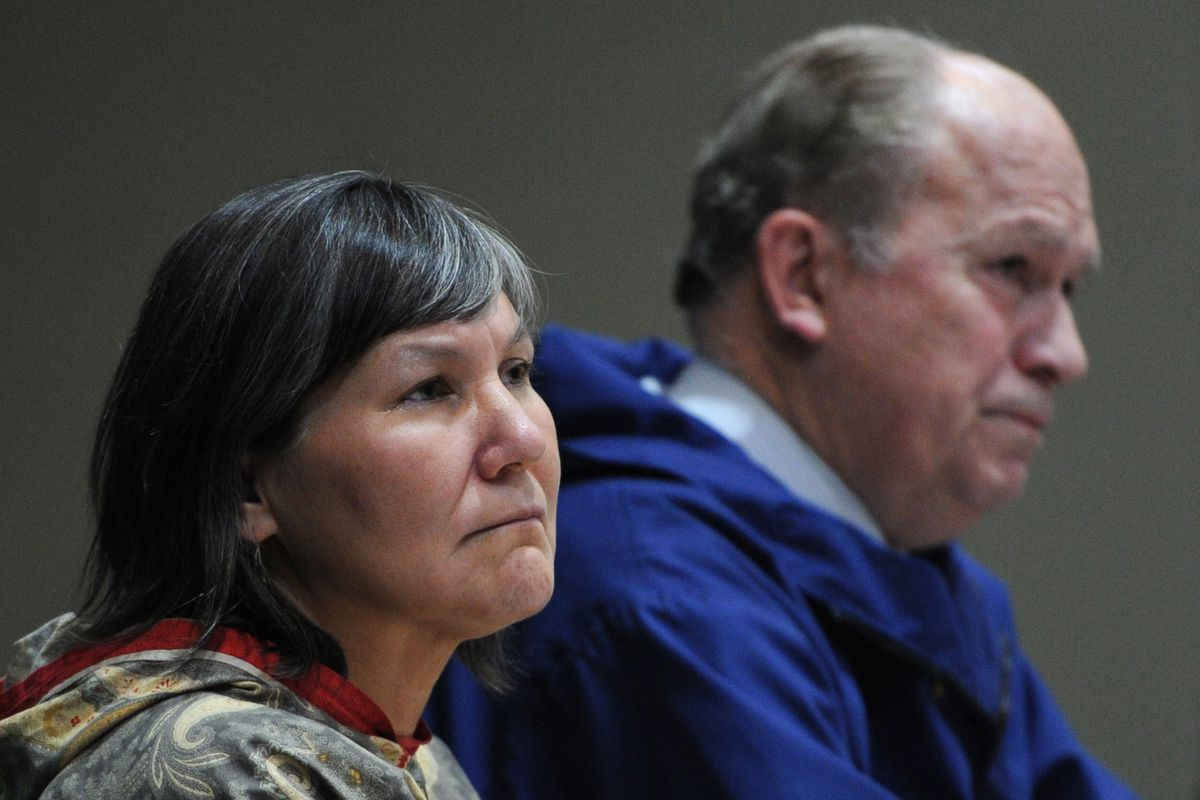 Lt. Gov. Valerie Davidson and Gov. Bill Walker listen to tribal members during the 7th annual AFN-NCAI Tribal Conference at the Egan Center on Wednesday, Oct. 17, 2018. (Bill Roth / ADN)