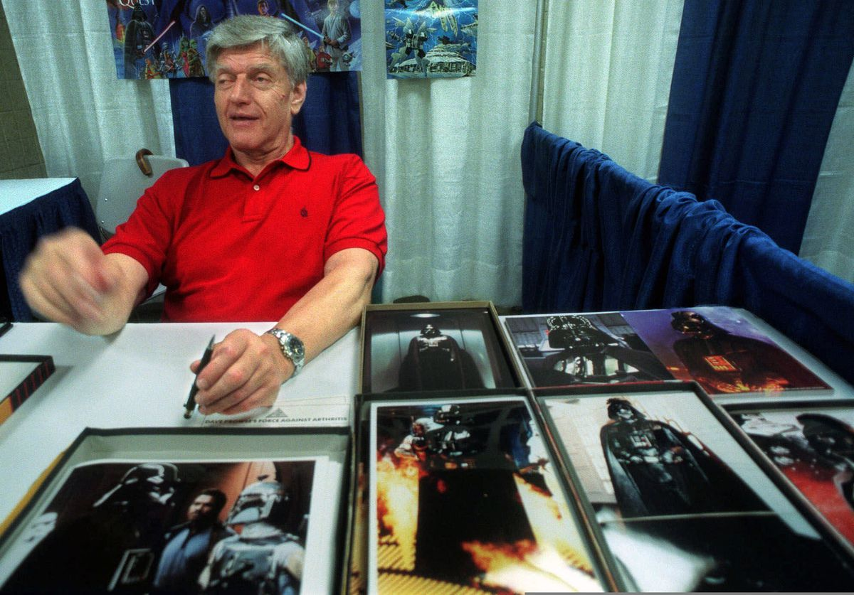 FILE - In this file photo dated Friday, May 7, 1999, Dave Prowse, the original Darth Vader from the