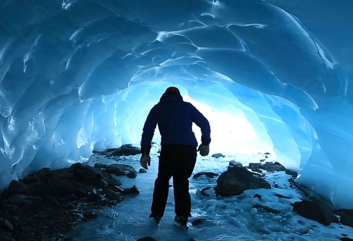 "A still from the video ""Wild Ice – Backcountry Skating Alaska."""