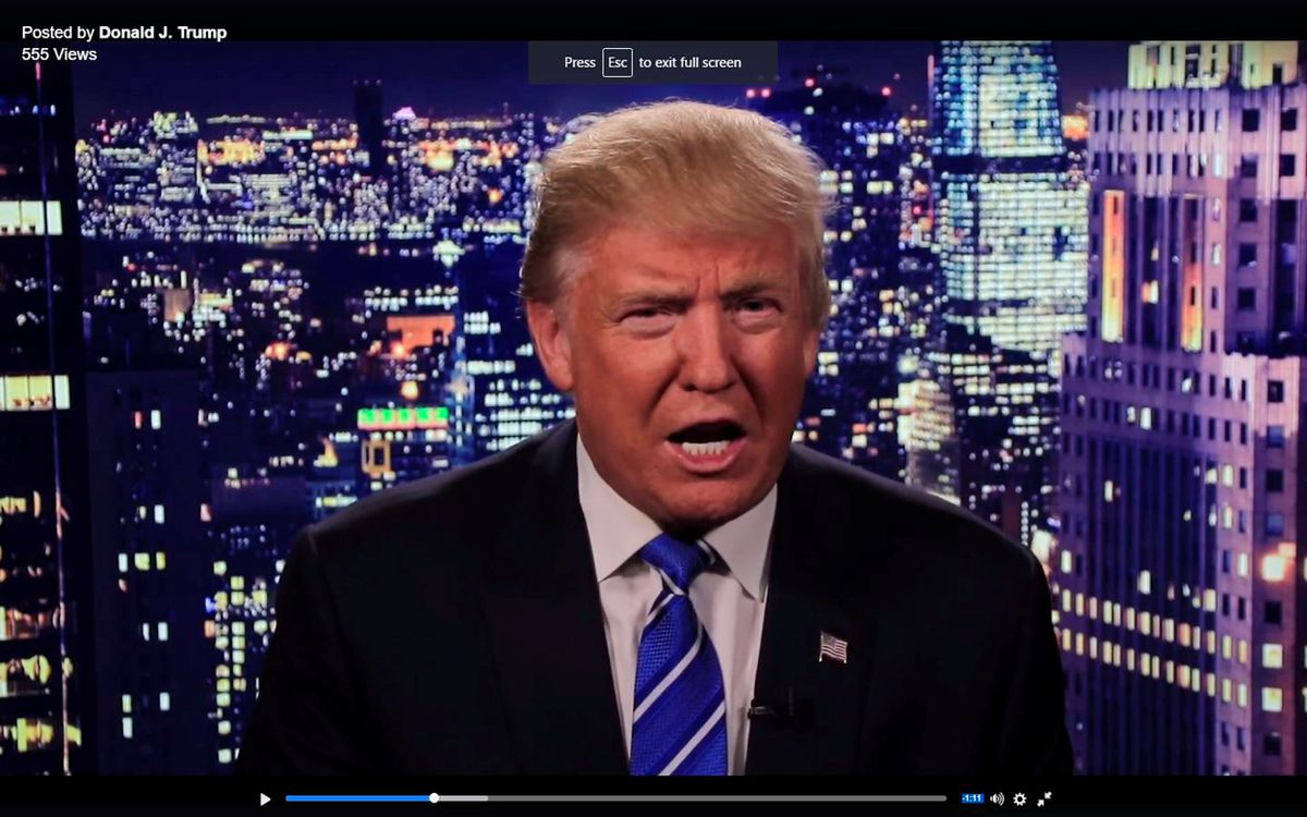 Republican U.S. presidential nominee Donald Trump is seen in a video screengrab as he apologizes for lewd comments he made about women during a statement recorded by his presidential campaign and released via social media on Friday night. (Reuters)