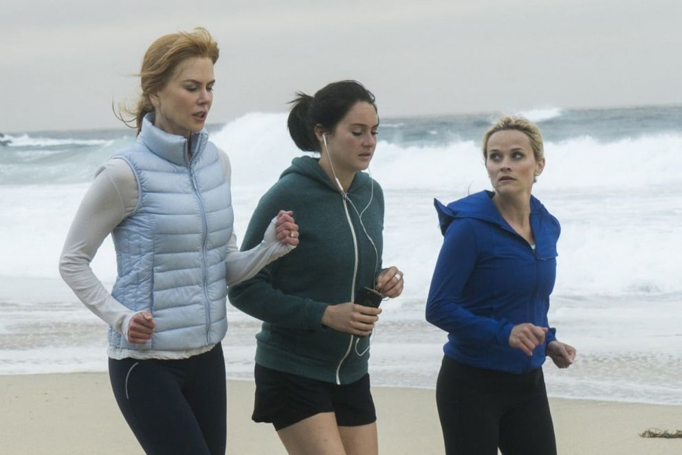 """Nicole Kidman, Shailene Woodley and Reese Witherspoon in HBO's """"Big Little Lies."""" Hilary Bronwyn Gayle – HBO"""