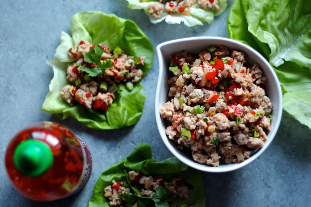 Ginger pork lettuce wraps (Maya Wilson / Alaska from Scratch)