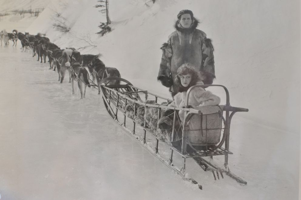 A scene from 'The Cheechakos, ' a silent film made in Alaska in 1923.