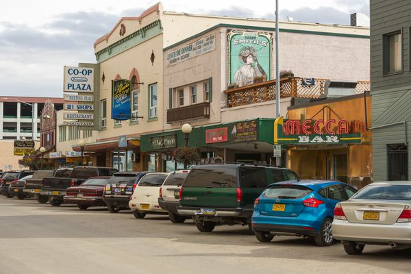 Downtown Fairbanks, photographed on September 9, 2015.