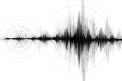 Earthquake Wave Low and high richter scale with Circle Vibration on White paper background,audio wave diagram concept,design for education and science,Vector Illustration. iStock/Getty Images