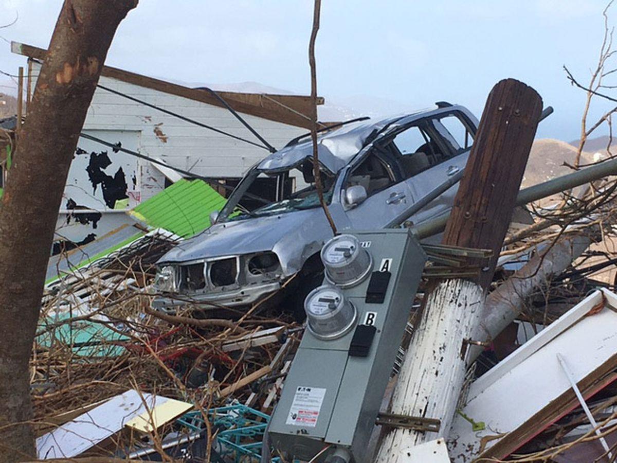 Hurricane Irma caused massive damage on St. John, part of the U.S. Virgin Islands. Washington Post photo by Anthony Faiola