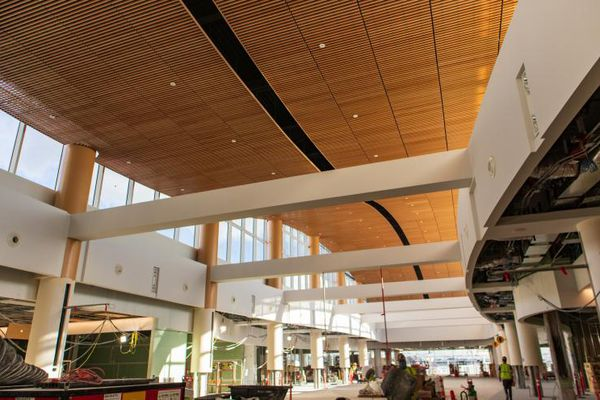 Work is nearing completion on the new North Satellite Terminal at Seattle-Tacoma International Airport. (Port of Seattle)