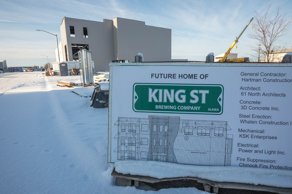 The site of the new, expanded King Street Brewery on 91st Street. (Loren Holmes / Alaska Dispatch News)