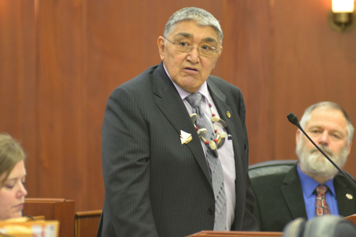 Rep. Ben Nageak, D-Barrow, speaks during a floor session of the Alaska House of Represenatives. Nageak has challenged the results of the August primary election he lost to fellow Democrat Dean Westlake.