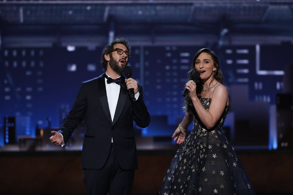 Sara Bareilles and Josh Groban at the 72nd Annual Tony Awards at Radio City Music Hall in New York, June 10, 2018. (Sara Krulwich/The New York Times)