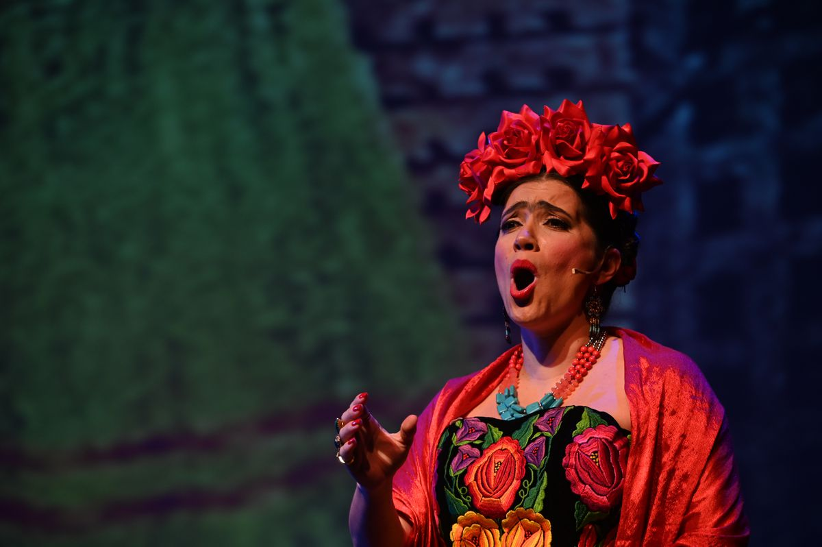 Catalina Cuervo portrays the Mexican artist Frida Kahlo in the Anchorage Opera production of