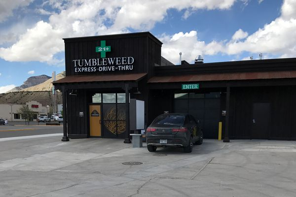 Tumbleweed Express Drive-Thru, the nation's first first drive-thru marijuana dispensary, is shown in Parachute, Colorado, U.S., April 19, 2017. Mark Smith/Courtesy Tumbleweed Express Drive-Thru/Handout via REUTERS