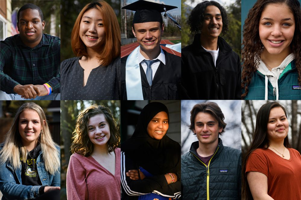 Ten high school seniors in the Anchorage School District described finishing 12th during the pandemic-altered calendar. (Marc Lester / ADN)