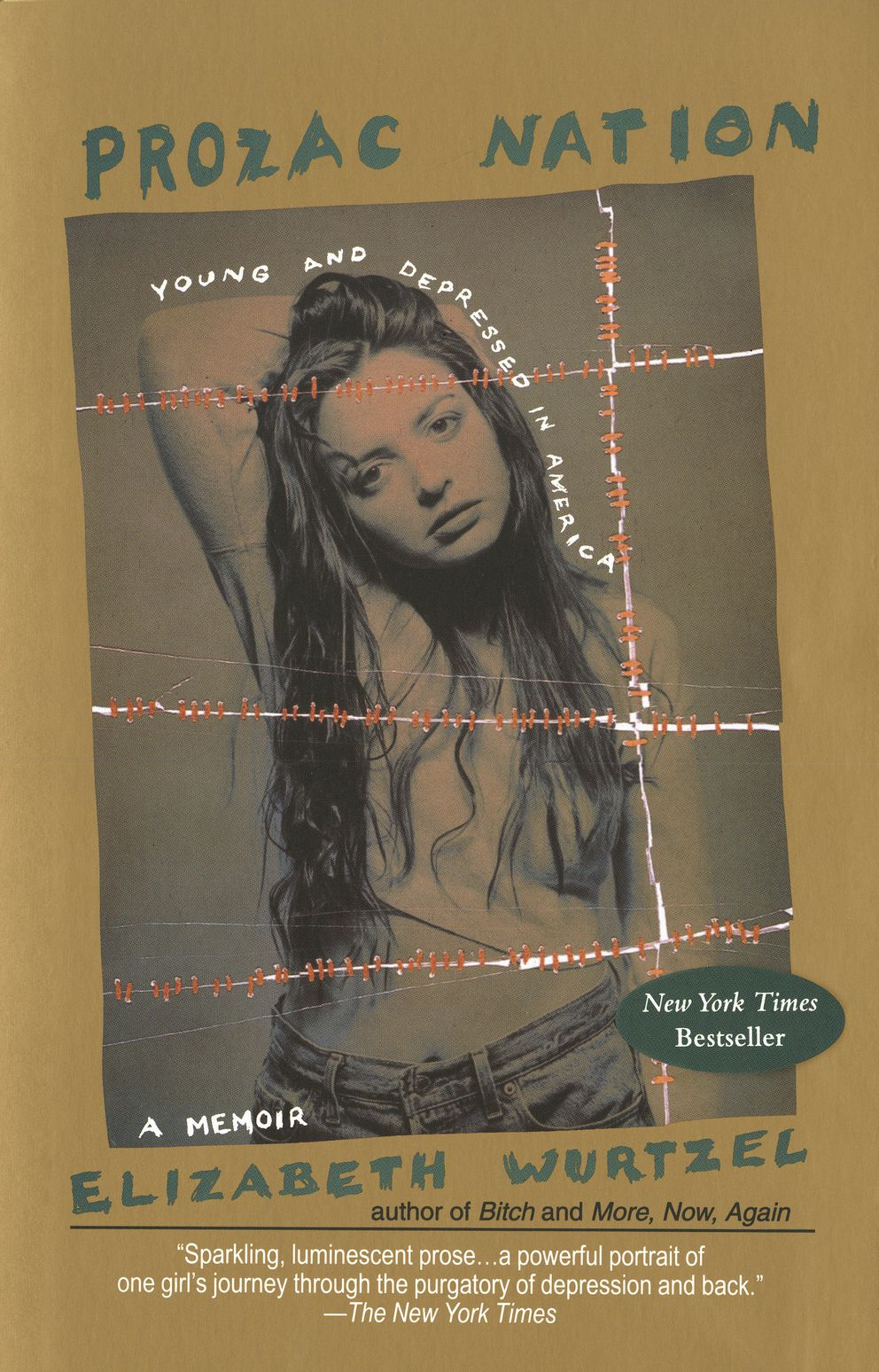 """This undated photo provided by Penguin Random House shows the book cover of Elizabeth Wurtzel's memoir, 'Prozac Nation. ' Wurtzel, whose blunt and painful confessions of her struggles with addiction and depression in the best-selling """"Prozac Nation"""" made her a voice and a target for an anxious generation, died Tuesday, Jan. 7, 2020, at age 52. (Courtesy of Riverhead/Penguin Random House via AP)"""