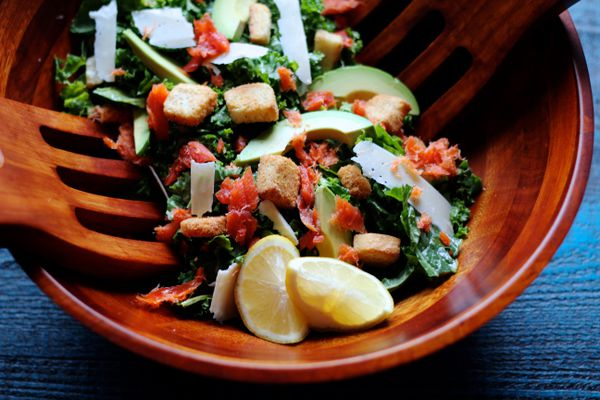 Smoked salmon Caesar salad (Maya Wilson / Alaska from Scratch)