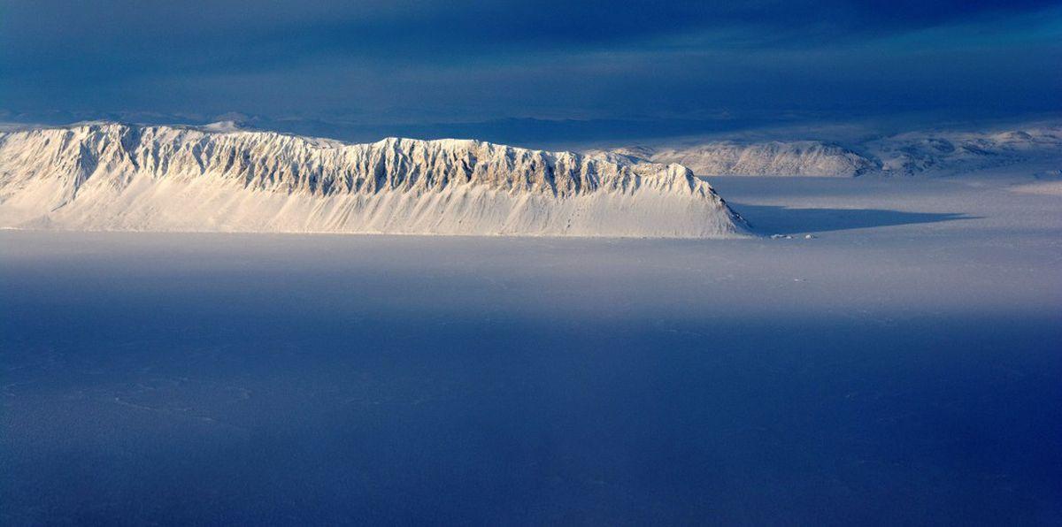 Eureka Sound on Ellesmere Island in the Canadian Arctic is seen in a NASA Operation IceBridge survey picture taken March 25, 2014. NASA/Michael Studinger/Handout via REUTERS