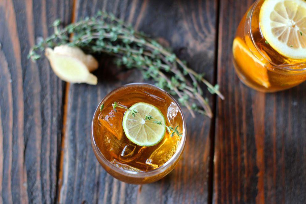 Ginger citrus thyme iced tea (Maya Wilson / Alaska from Scratch)