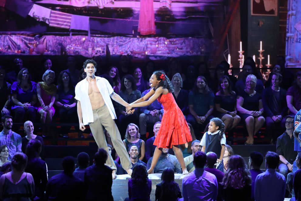 "The cast of ""Once on This Island"" performs at the 72nd Annual Tony Awards at Radio City Music Hall in New York, June 10, 2018. (Sara Krulwich/The New York Times)"