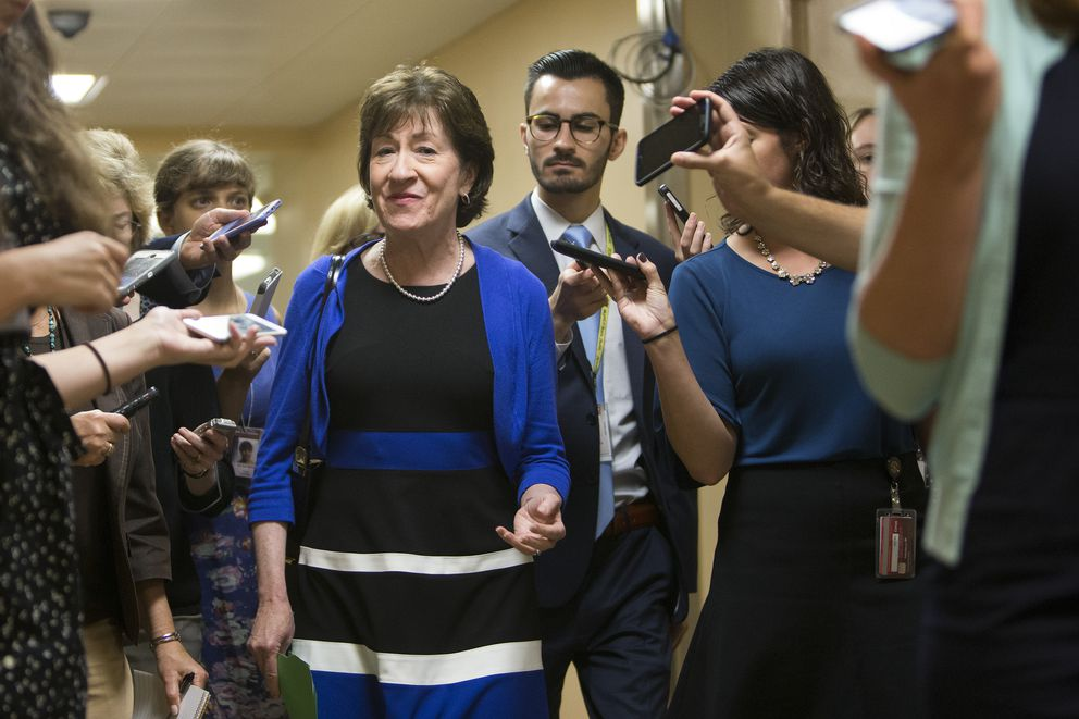 Sen. Susan Collins, R-Maine, on Capitol Hill, in Washington, Sept. 18, 2017. (Tom Brenner/The New York Times file)