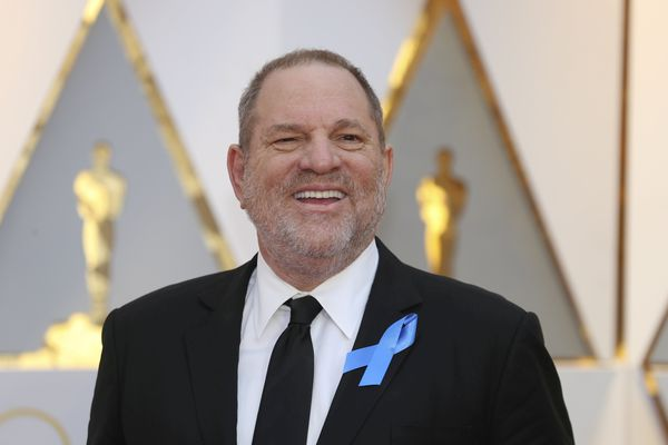 FILE PHOTO: Harvey Weinstein poses on the Red Carpet after arriving at the 89th Academy Awards in Hollywood, California, U.S., February 26, 2017. REUTERS/Mike Blake/File Photo