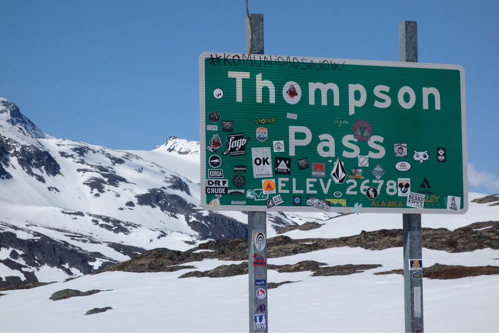 Thompson Pass, one of the snowiest places in Alaska. (Photo by Ned Rozell)
