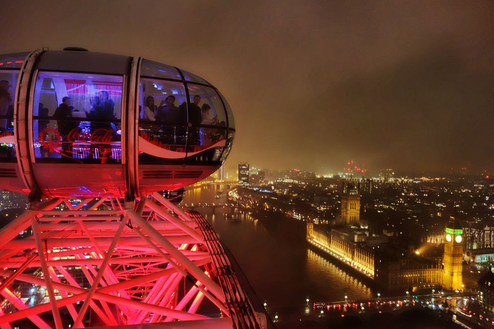 A wintertime shot from the top of the London Eye. (Scott McMurren)