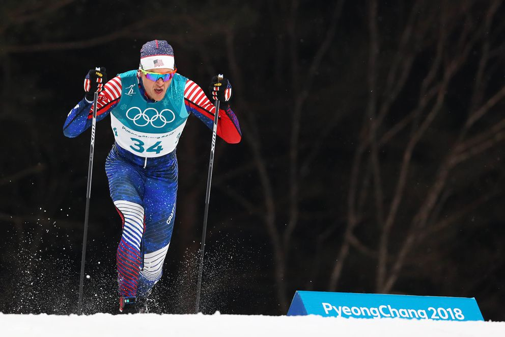 Erik Bjornsen competes in the men's classic sprint qualifications. (Rob Schumacher / USA TODAY Sports)