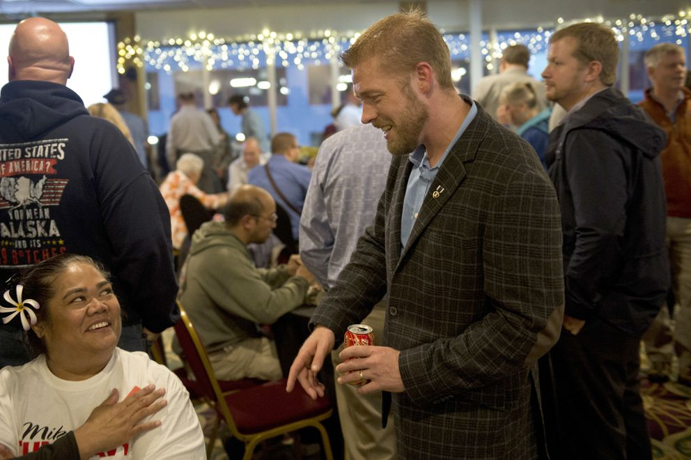 House candidate Josh Revak at the Aviator Hotel on August 21, 2018. (Marc Lester / ADN)