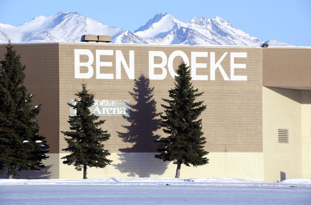 Ben Boeke Arena, Saturday, March 14, 2020. (Anne Raup / ADN)