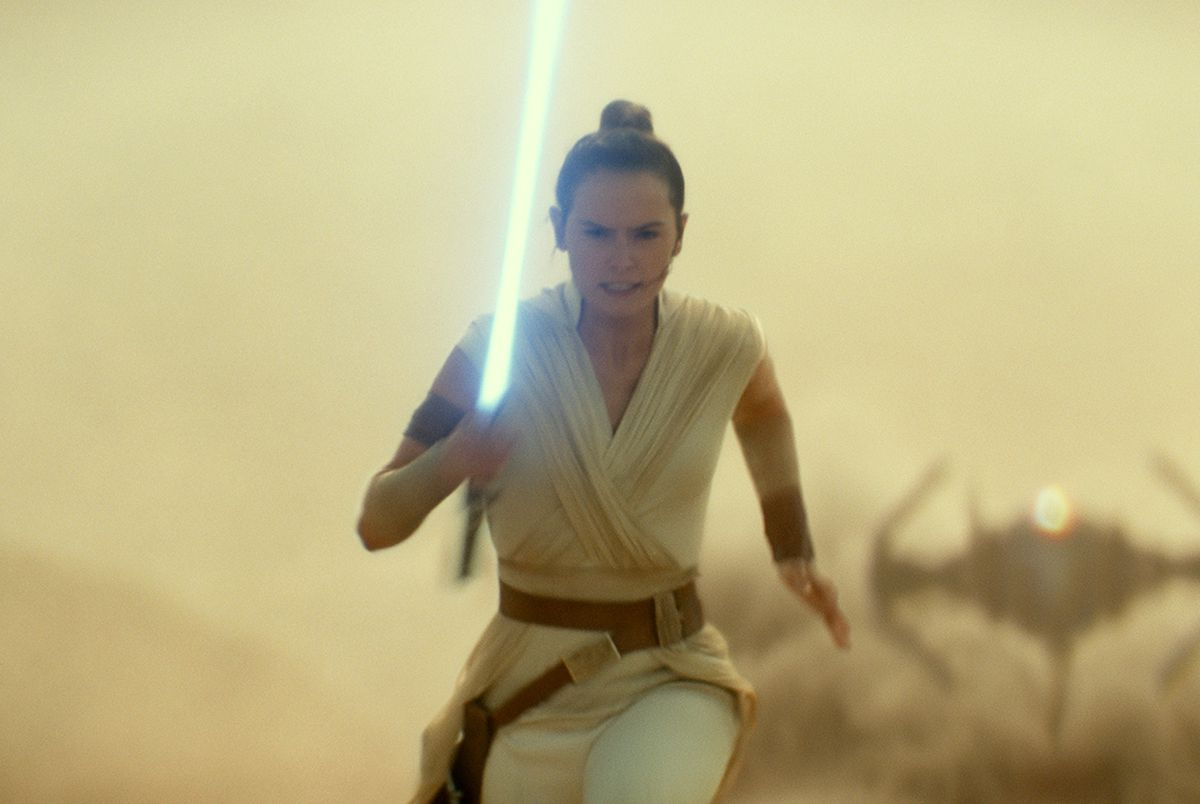 Daisy Ridley's Rey is continuing her training as a Jedi knight among the rebel forces in
